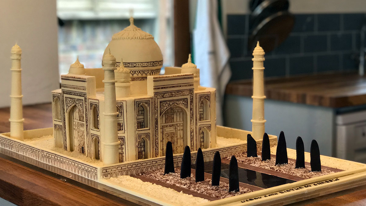 White Chocolate Taj Mahal Sculpture