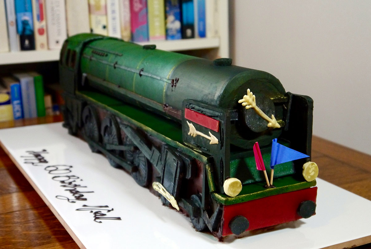 Based on the Golden Arrow Steam train this piece was over two foot long.