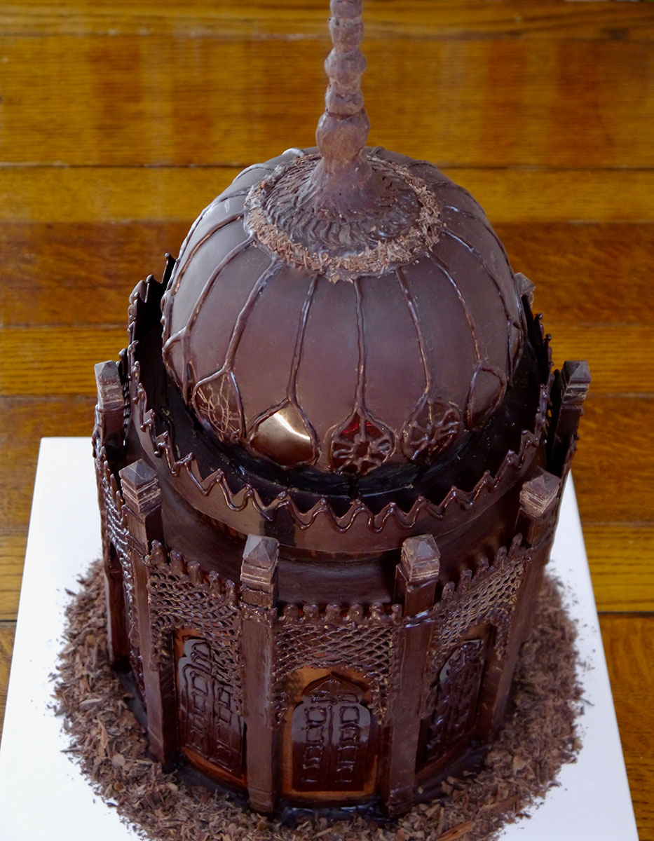 the royal pavilion saloon dome in dark chocolate vegan