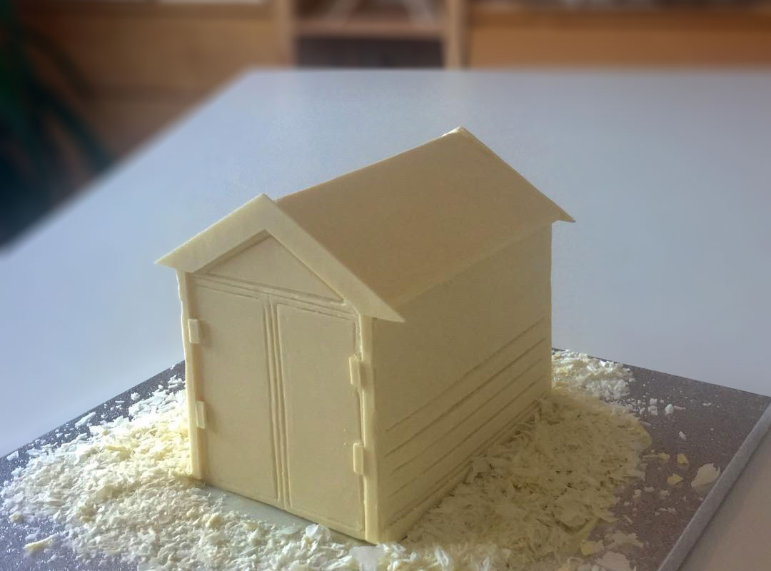 White chocolate beach hut