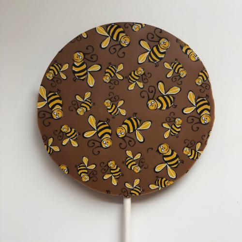 bumblebee milk chocolate lolly