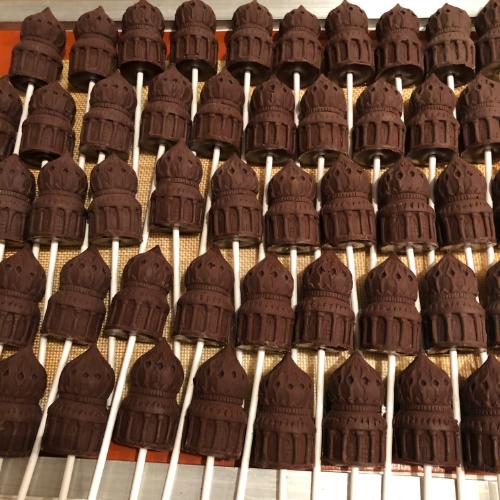 dozens of dark hot chocolate pavilion lollipops