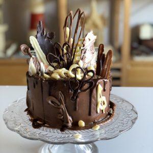 8-10 chocolate drip chocolate shavings bonkers chocolate birthday cake
