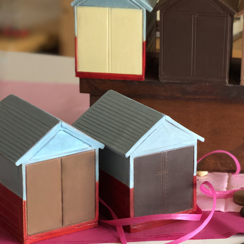 create your own Brighton and Hove Beach hut milk, dark and white chocolate