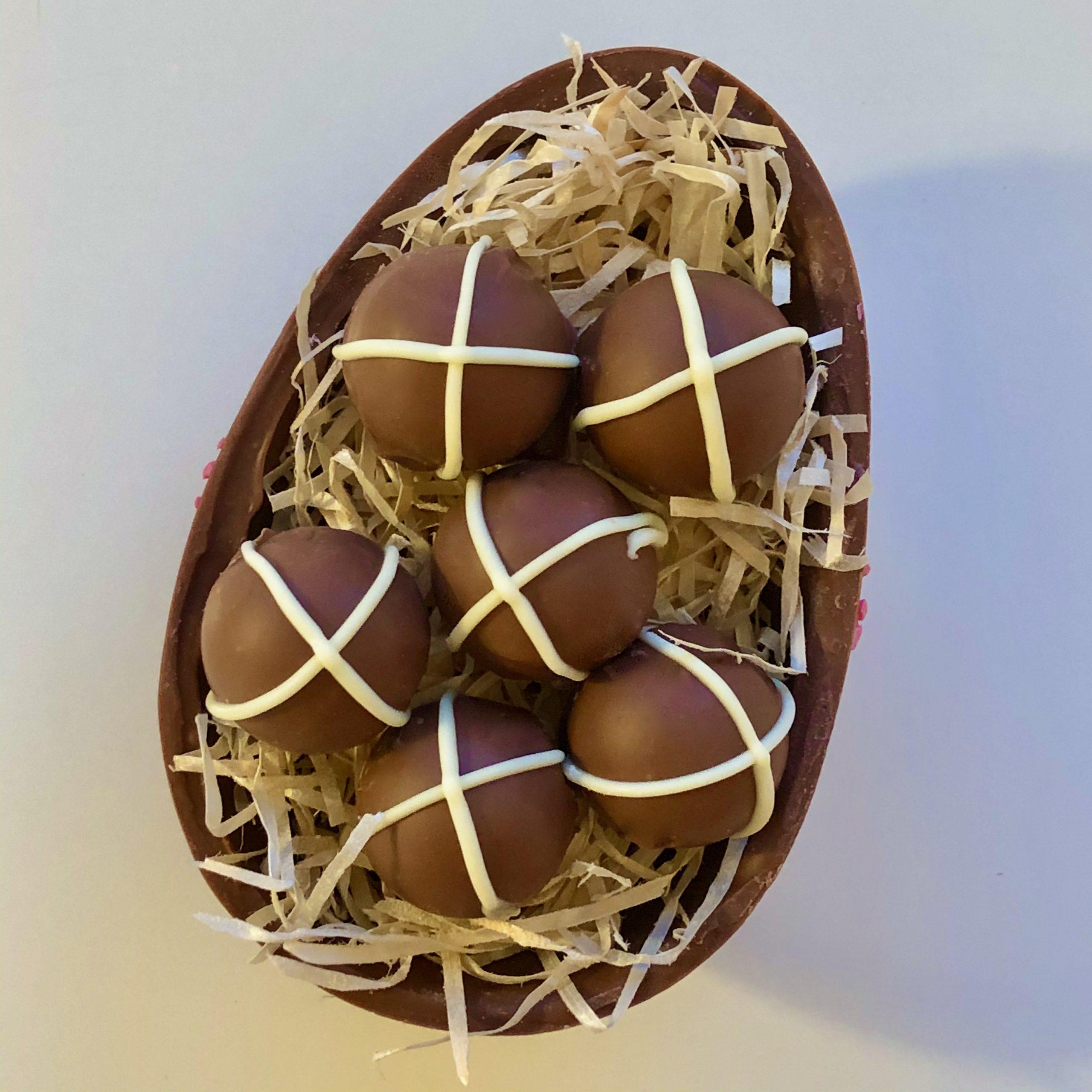 Rustic Hot Cross Bun Chocolate Truffles   Chocolate
